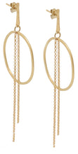 Load image into Gallery viewer, Justine Long Chain Earrings Gold