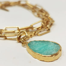 Load image into Gallery viewer, Kurt Neacklace/ Wrap Bracelet Emerald Stone