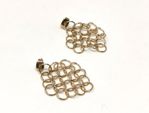 Louison Large Mesh Earrings Gold