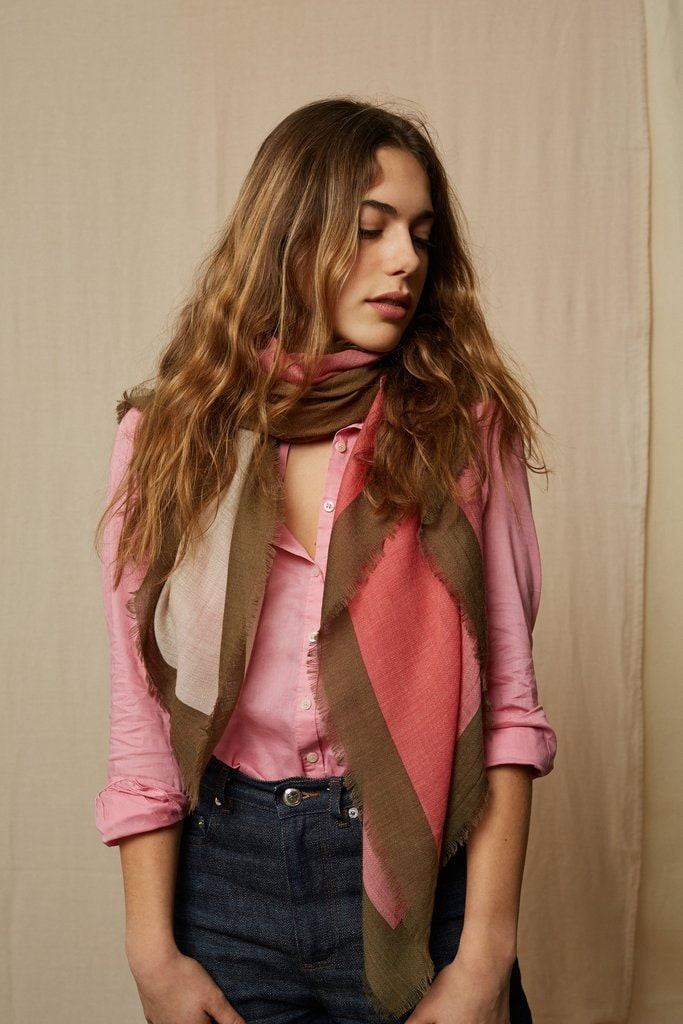 Wool Scarf 448 - Soft Pink