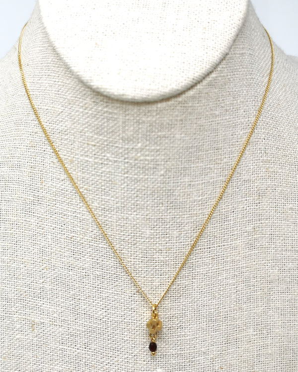 Solitaire Cross Pendant Necklace