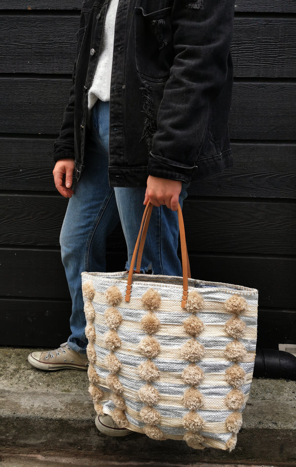 Natural/Cream & Gold Shopper