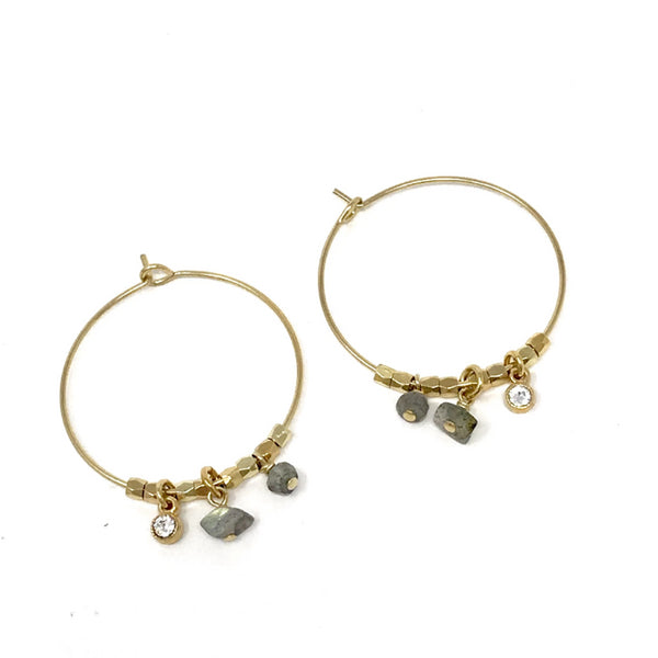 Nirvana Hoop Earrings Medium