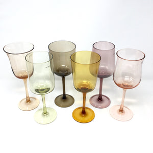 Desigual Wine Glasses Amber & Pink Mix