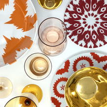 Load image into Gallery viewer, Desigual Wine Glasses Amber & Pink Mix