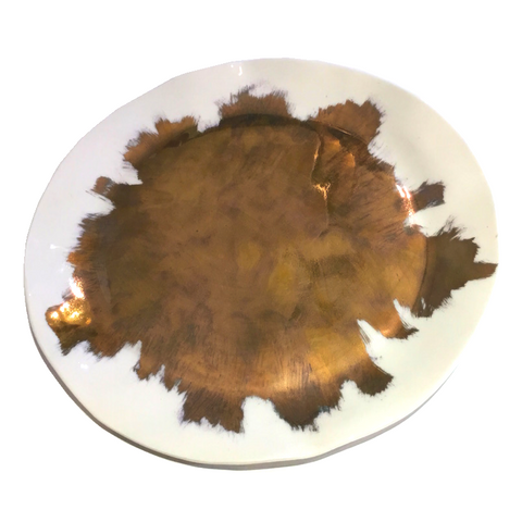 Platter - Splattered Gold 27cm