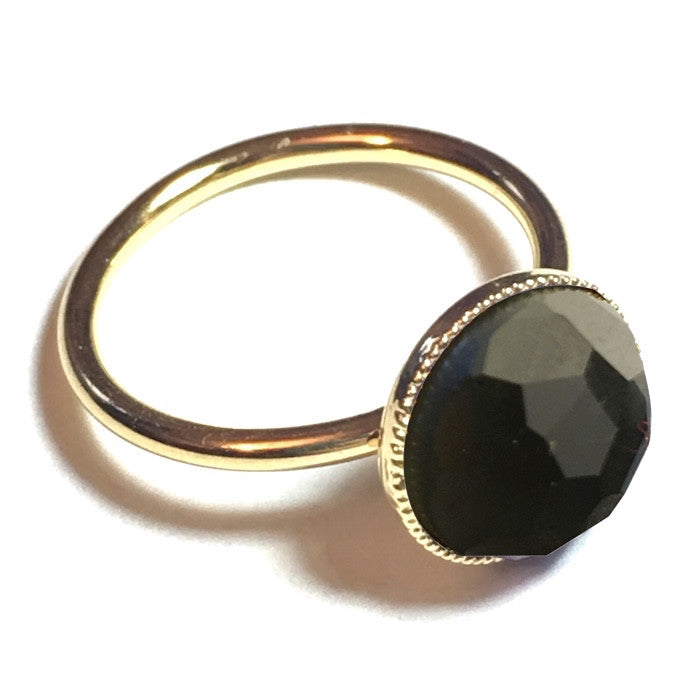 Pom Crystal Ring Grey