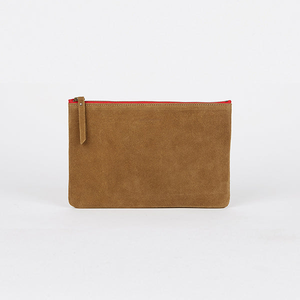 Suede Leather Pouch Tobacco