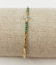 Load image into Gallery viewer, Sparky Bracelet Chrysocolle & Herkimer