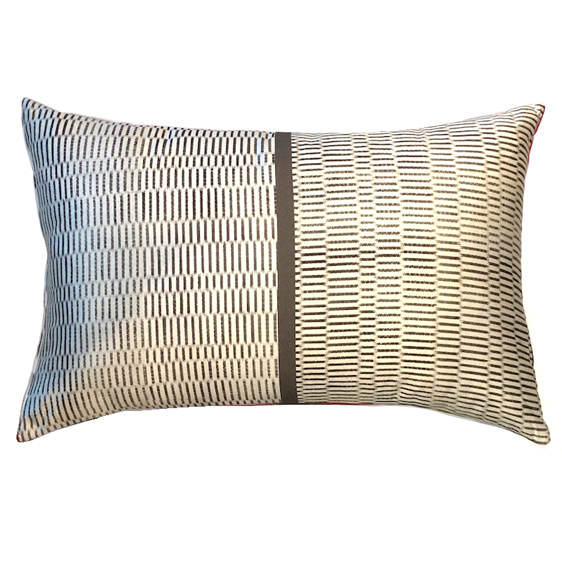 Silk Cushion Graphic Stripes