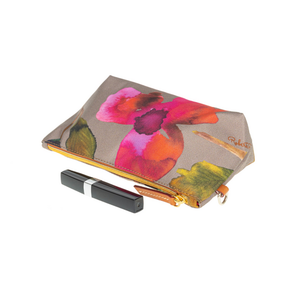 Vanity Case Flower Taupe