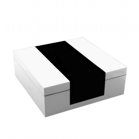 White and Black Hinged Box