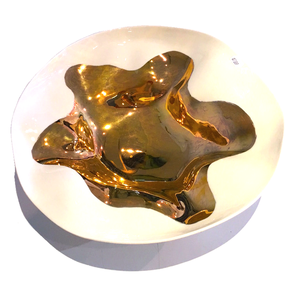 Shell 30cm Large Bowl - Gold