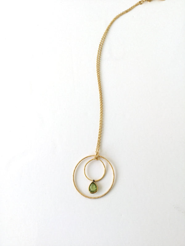 Peridot Circle Necklace