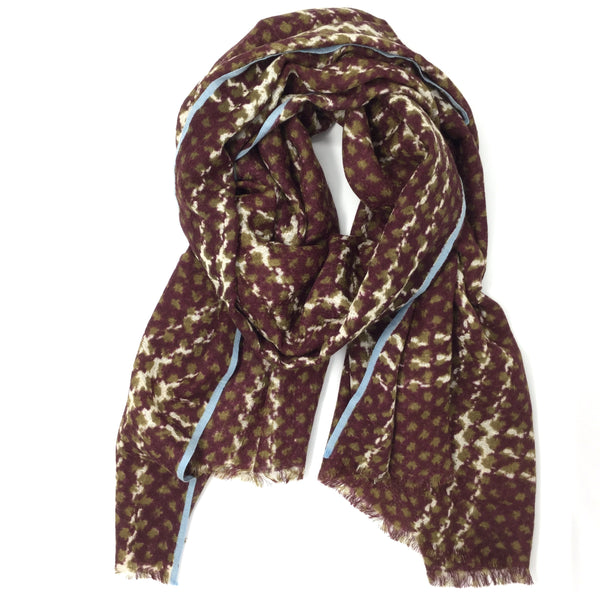 Wool Scarf Wine