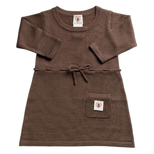 Pure Merino Dress - Chocolate Brown