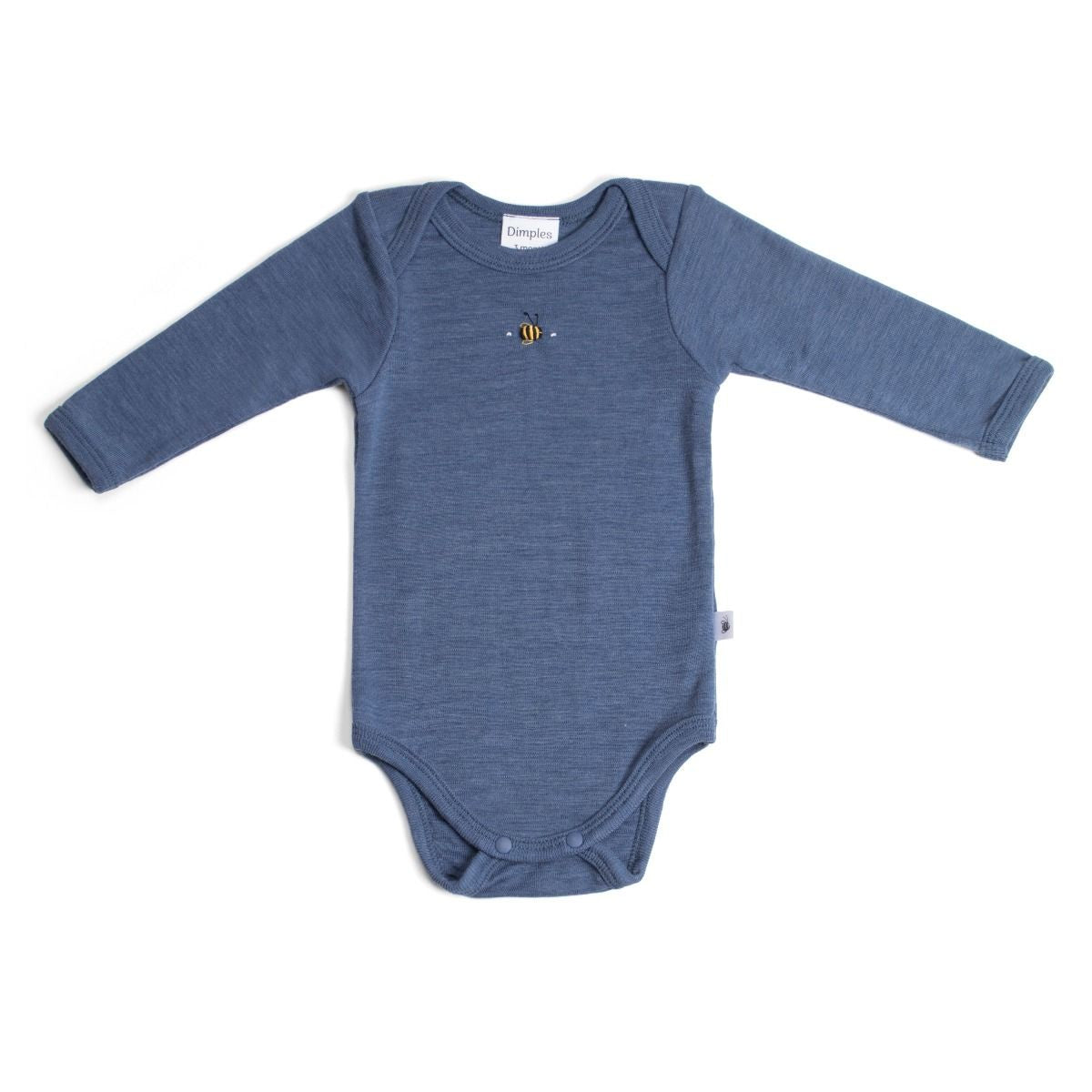 Merino Bodysuit Denim Bee