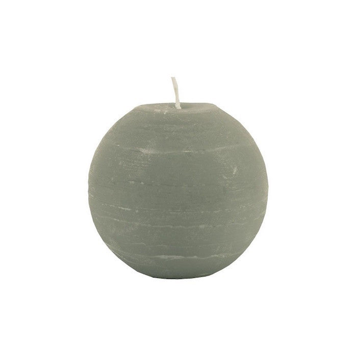 Ball Candle 6.5cm - Stone Grey