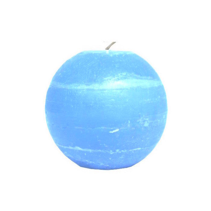 Ball Candle 8cm - Aqua Blue