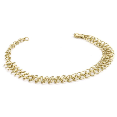 Louison Wide Mesh Bracelet - Gold
