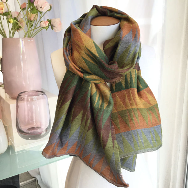 Fine Wool Silk Scarf Polaire