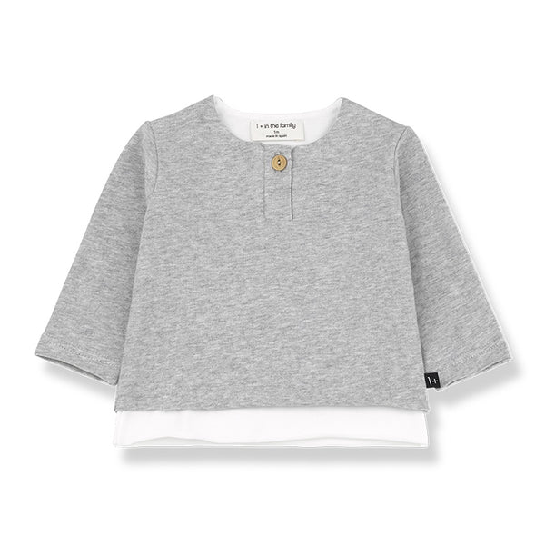 Anton Organic Cotton Long Sleeve T-shirt Grey Melange