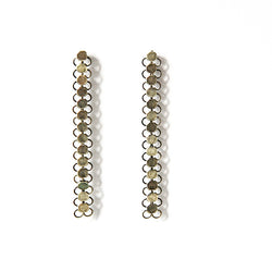 Louison Scale Earrings - Silver