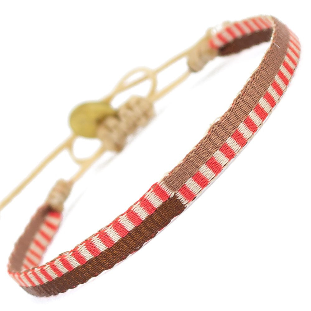 Argantina 120 Bracelet - Red and Brown