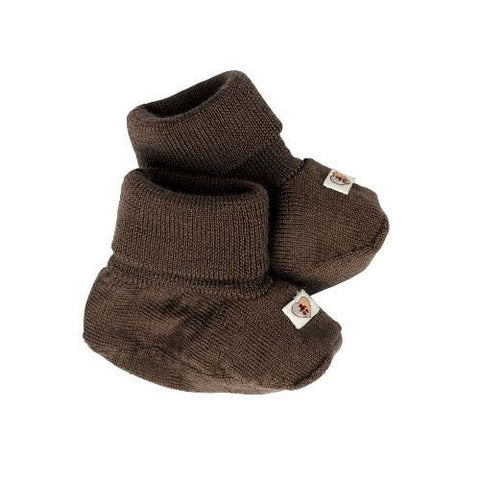 Pure Merino Booties - Chocolate