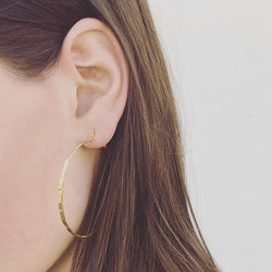 Mir Large Hoop Earrings Gold