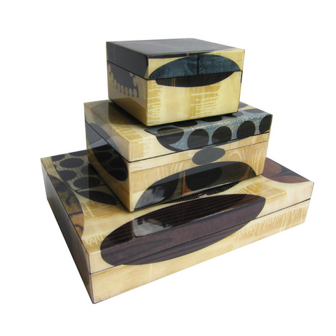 Rex Ray Heliotrope Lacquer Boxes