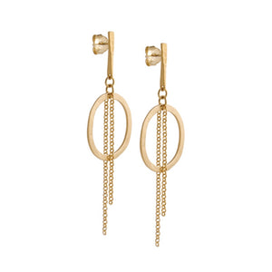 Justine Medium Chain Earrings Gold