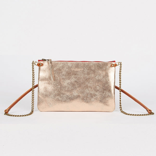 Leather Crossbody Bag Gold