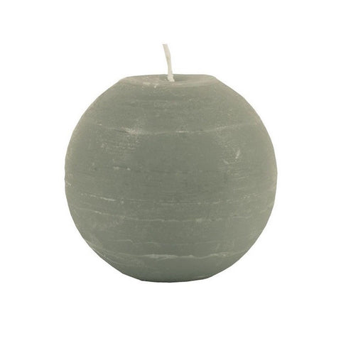 Ball Candle 10cm - Stone Grey