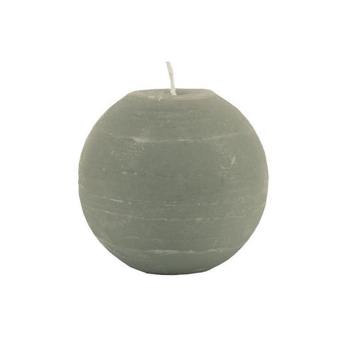 Ball Candle 8cm - Stone Grey