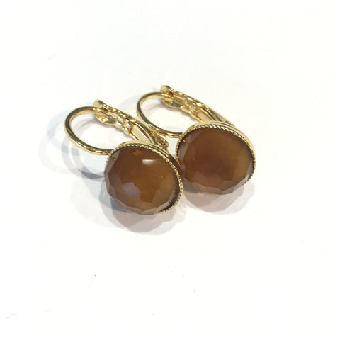 POM Earrings Short - Ochre