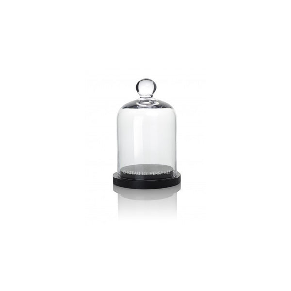 Glass Bell with Black Base