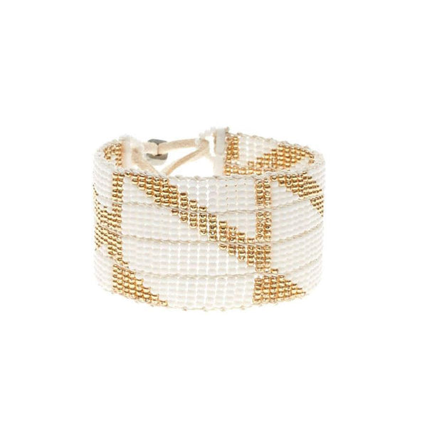 Warrior Bracelet - Rhombus White & Gold