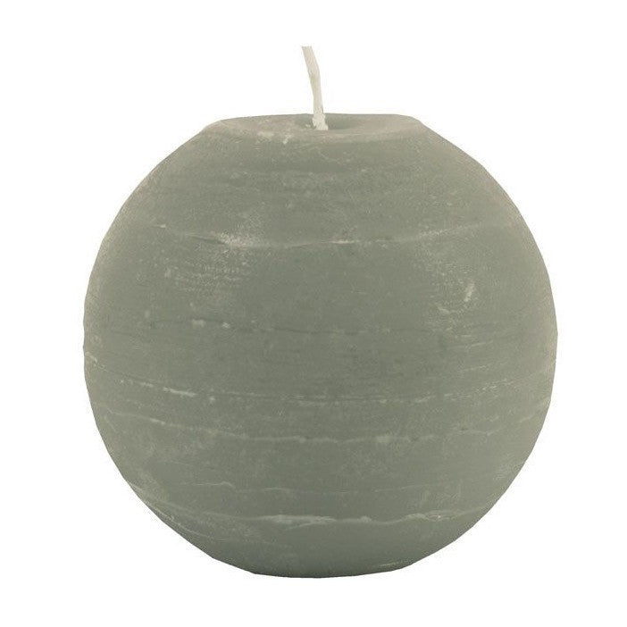 Ball Candle 12cm - Stone Grey