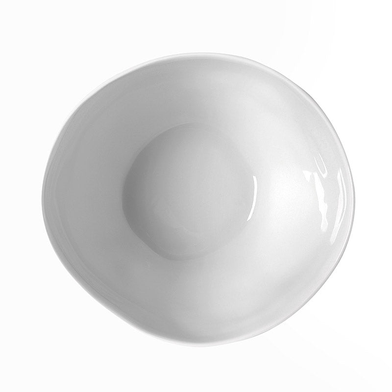 White Capacious Medium Bowl