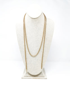 Hanae Tie Necklace - Gold