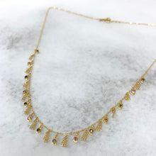 Load image into Gallery viewer, Necklace Sterling Silver Gold Zirconium Beads Multi Gold