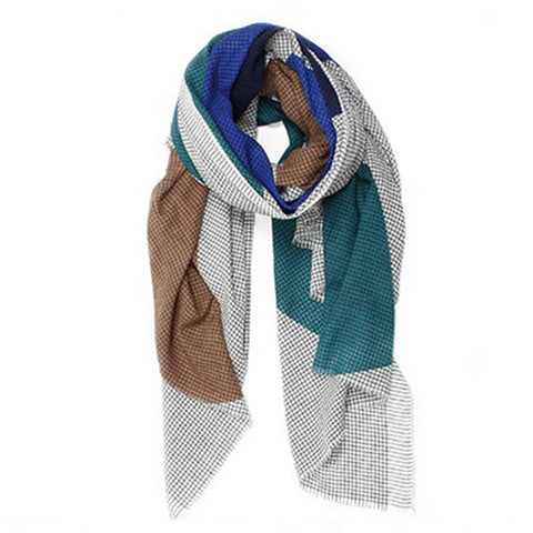 Cotton Scarf - Blue