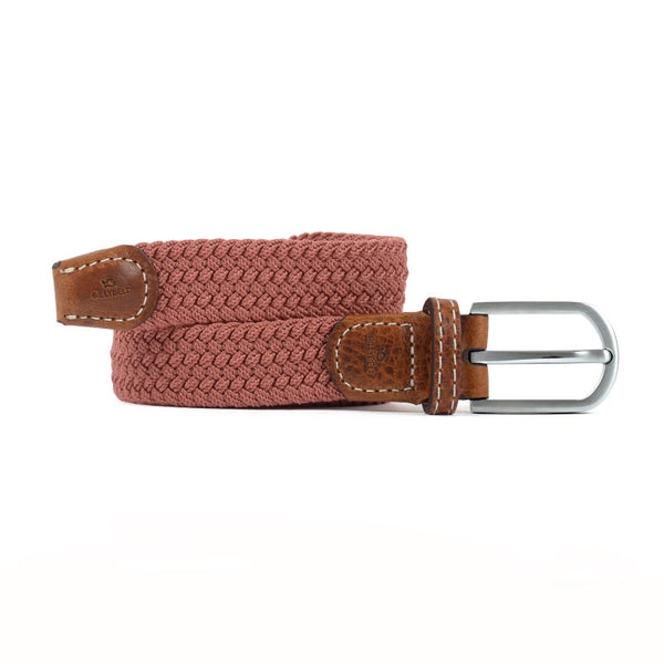 Women's Braided Belt - Rosewood