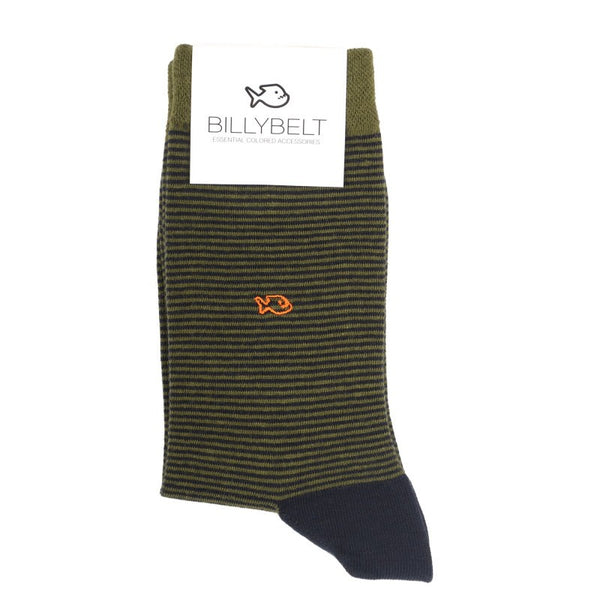 Socks - Khaki Striped