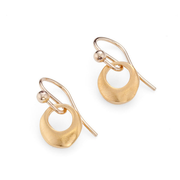 Small Ring Earrings - Vermeil