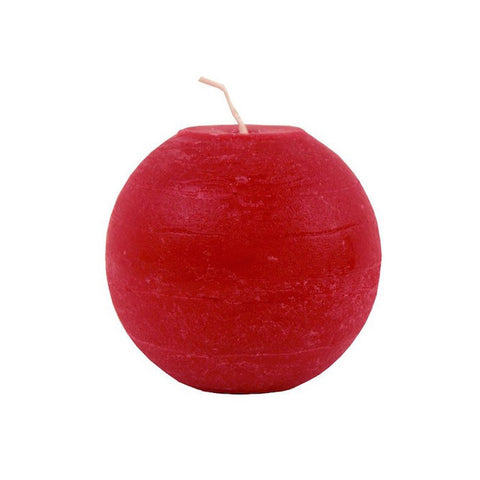 Ball Candle 8cm - Red