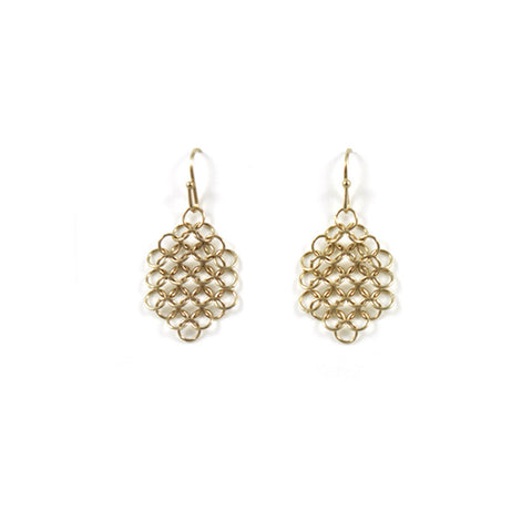 Louison Mesh Earrings - Gold
