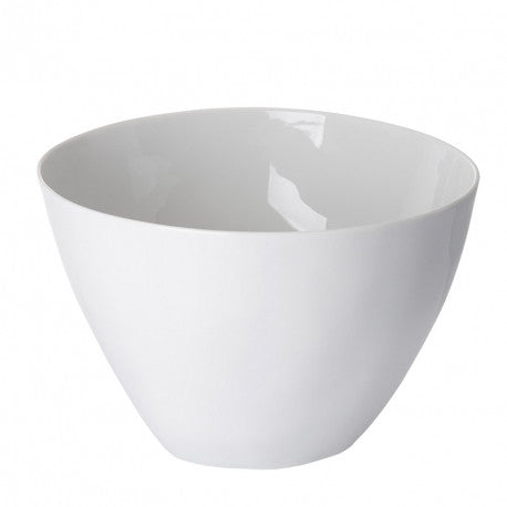 White Porcelain - Tall Salad Bowl