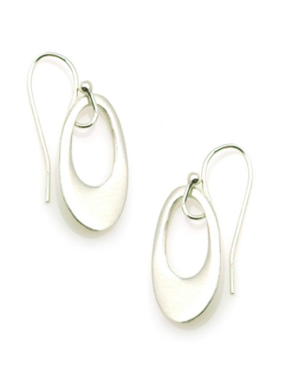 Extra Small Oval Earrings - Silver